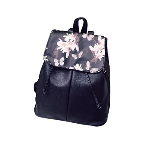 645f8734a324 Amazon.com: Adealink Simple Fashion Women Backpack Leather ...