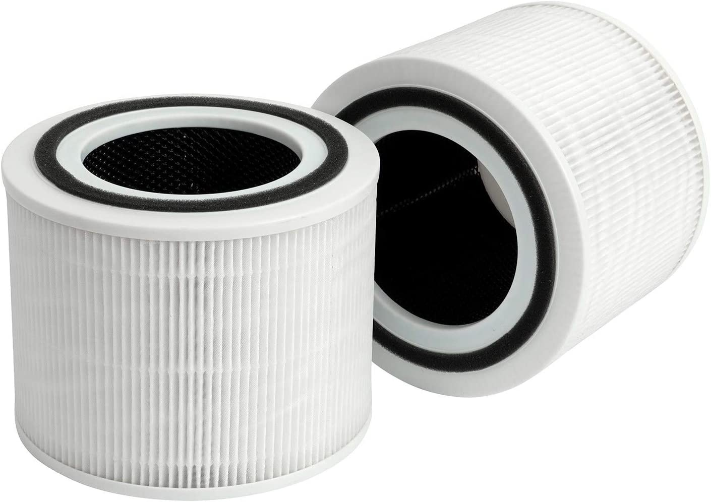 Flintar 2 Packs of Core 300 True HEPA Replacement Filters, Compatible with LEVOIT Core 300 Air Purifier, 3-in-1 H13 Grade Premium True HEPA Filter Replacement, Core 300-RF