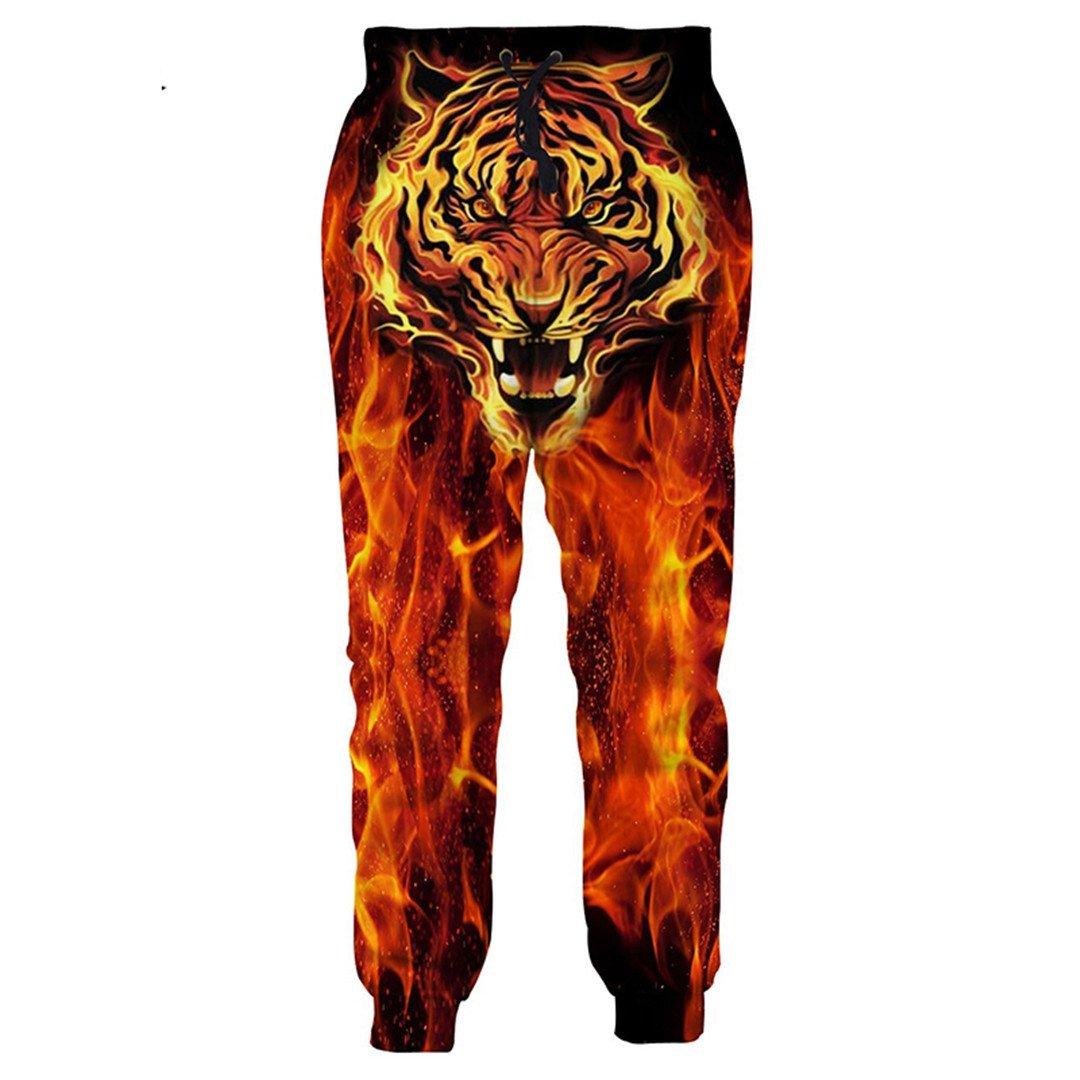 YINGPANTS Women's Men's Casual Pants 3D Print Tiger Jogging Pants Sweatpants