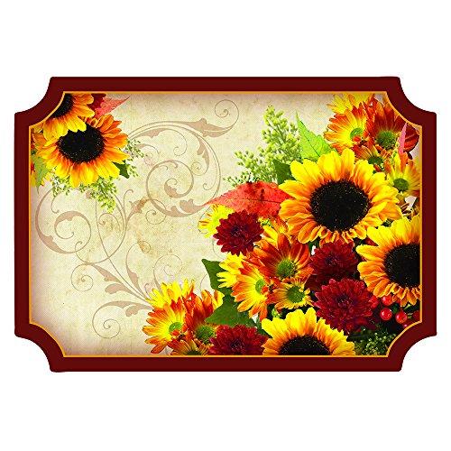 Hoffmaster 311099 Printed Seasonal Placemat, Floral Inspirations, 14