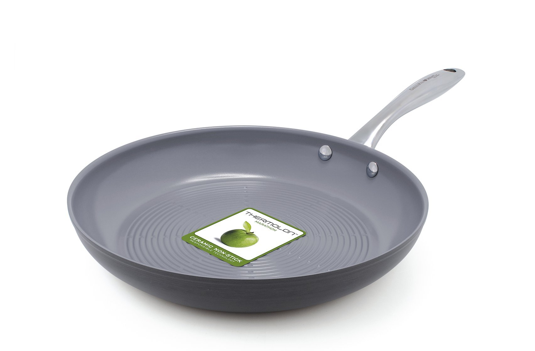 GreenPan Lima 3D I Love Meat & Poultry 11 Inch Hard Anodized Non-Stick Dishwasher Safe Ceramic Fry Pan