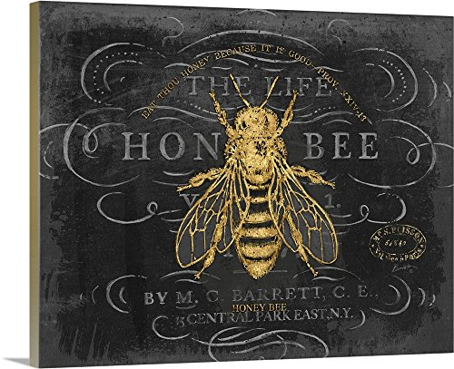 Chad Barrett Honey Bee chalkboard wall art - nature wall art