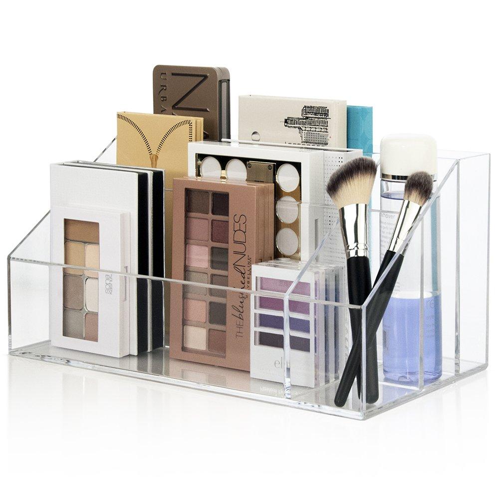 Large Capacity Premium Quality Clear Plastic Makeup Palette Organizer