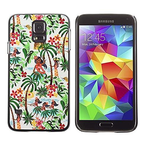 Graphic4You Hawaiian Hawaii Flower Thin Slim Rigid Hard Case Cover for Samsung Galaxy S5 (Samsung Galaxy S5 Cases Hawaii)