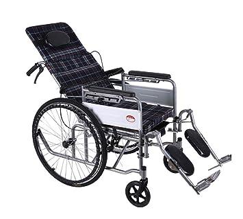 M-CH silla de ruedas Carrito Plegable para Silla de Ruedas, Incapacitado, Silla de Ruedas Manual Sillas de ruedas eléctricas: Amazon.es: Salud y cuidado ...