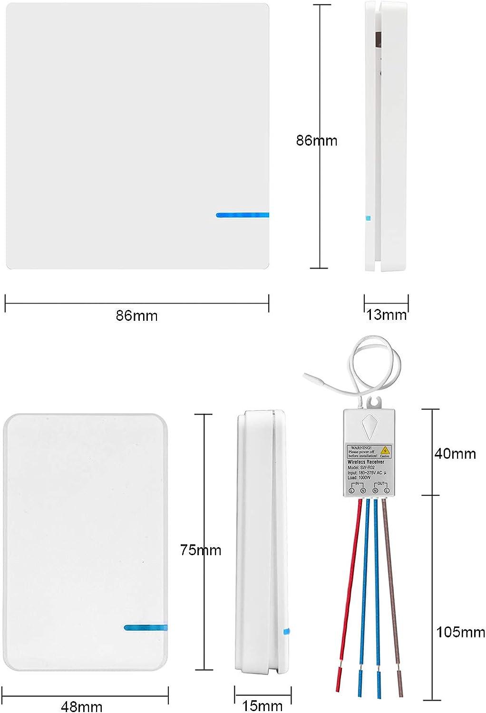 Au/ßen 400 m Drinnen 40 m Fernbedienung Deckenlampe LED Lampen Birne Damp Proof Schalter Hotel Bar Dual Funkschalter mit Mini Empf/änger EIN//AUS Wireless Lichtschalter Kit TSSS Neue Version