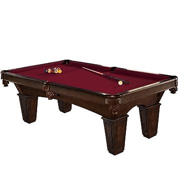 Brunswick 8 Foot Pool Table With Contender Cloth   Glen Oaks, Merlot