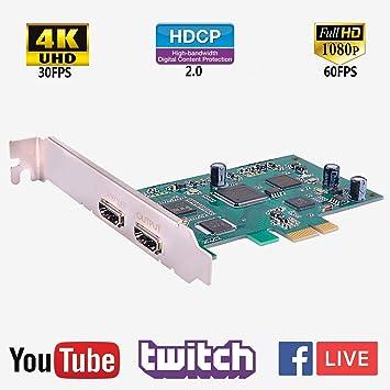 Y&H PCIe - Tarjeta de Captura de Vídeo (HDMI, HD, 1080p ...