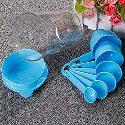 HXHON Plastic Measuring Jug Set Measuring Cups Measuring Spoons Measuring Cup Spoons Set Stackable Kitchen Measurement Tools Baking and Cooking Support