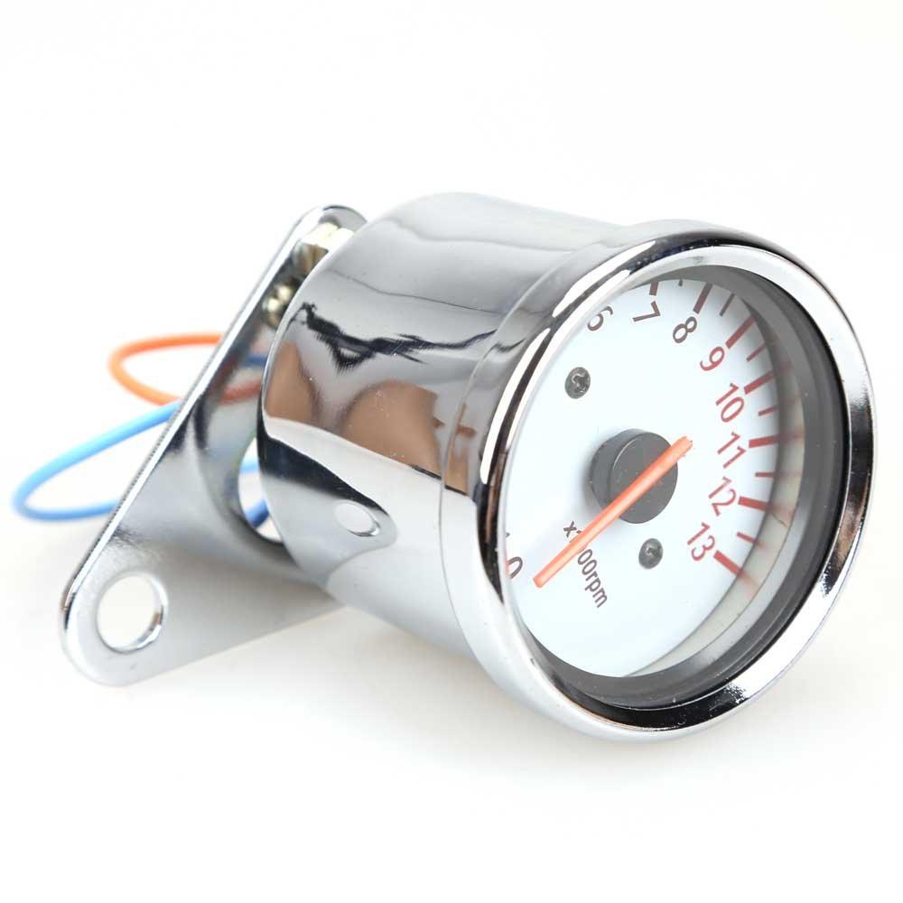 Universal 13000 Rpm Scooter Analog Tachometer Gauge 150cc 4 Stroke Engine Diagram For Honda Metropolitan Moped Night Light Motorcycle Automotive