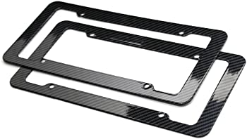 Plastic Carbon Fiber Style Frames 2pc Set