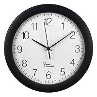 Hama Funk-Wanduhr Küchenuhr (leise, 30cm groß, automatische Zeitanpassung und Zeitumstellung von Sommer- und Winterzeit, modernes Ziffernblatt) Küchenwanduhr schwarz