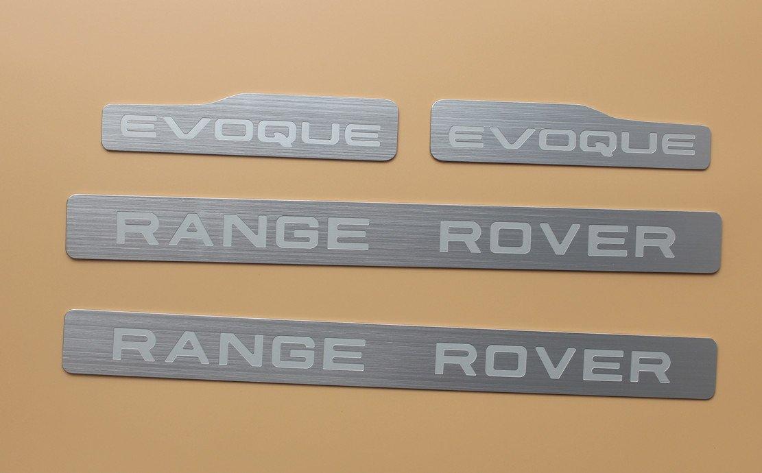4PCS Door Step sill scuff plate trim For land Range Rover Evoque 4Door 2012+
