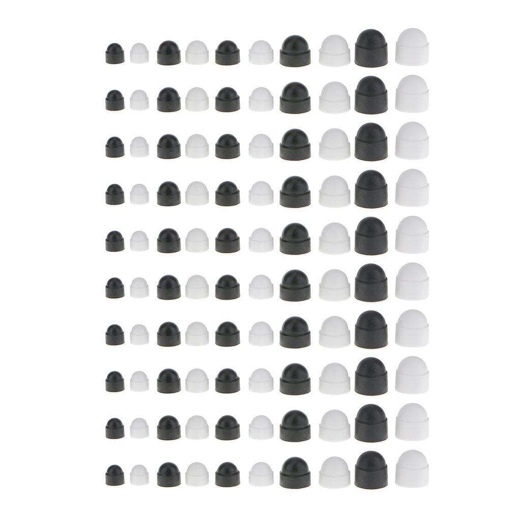 20 Pieces Premium Nut and Bolt Covers M6 10x13mm Black Plastic Dome Bolt Nut Hex Hexagon Protection Caps