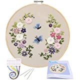 Full Range of Embroidery Starter Kit with Pattern, Kissbuty Cross Stitch Kit Including Embroidery Cloth with Floral…