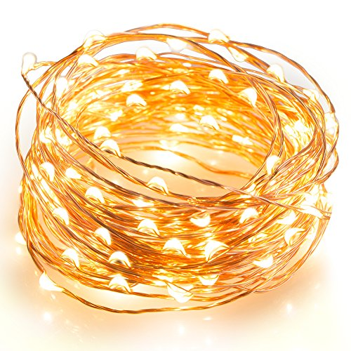 iLampens LED String Light Copper Wire Light, Waterproof Starry String Light, Décor Rope Lights for Christmas