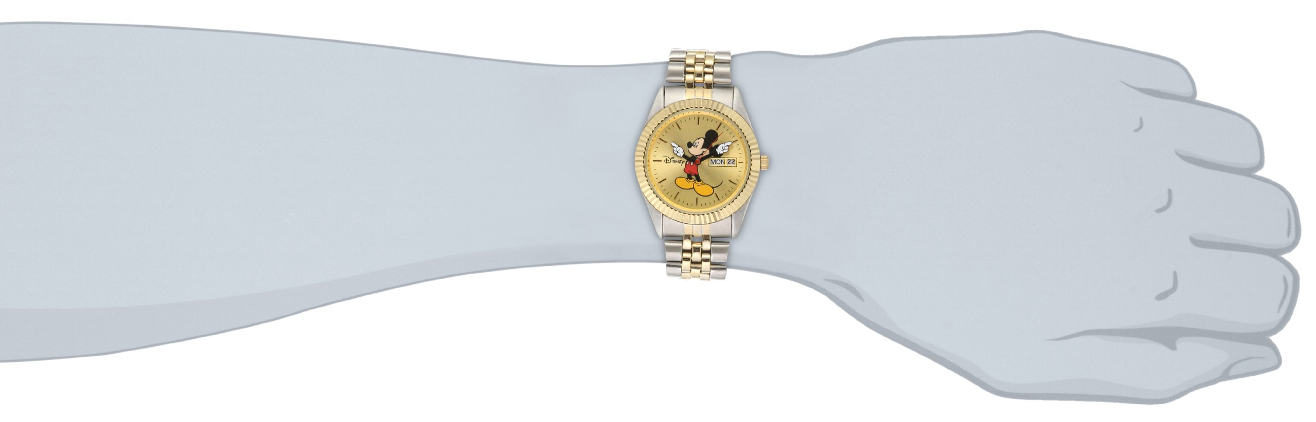 Disney Men's MM0060 Two-Tone Mickey Mouse Watch with Day and Date Movement by Ewatchfactory (Image #4)