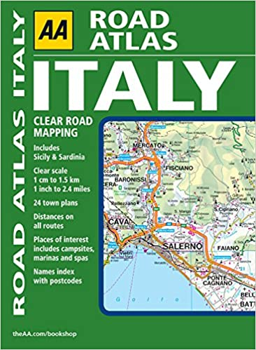 AA Road Atlas Italy AA Atlases And Maps Amazoncouk AA - Clear map of italy