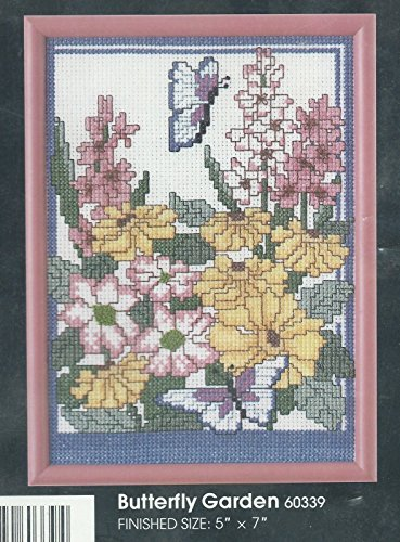 Butterfly Garden - Cross Stitch Sampler W/Frame - Kit 60339