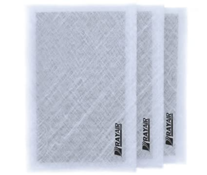 RayAir Supply 16x25 Dynamic Air Cleaner Air Filter Replacement Pads WHITE 3pk