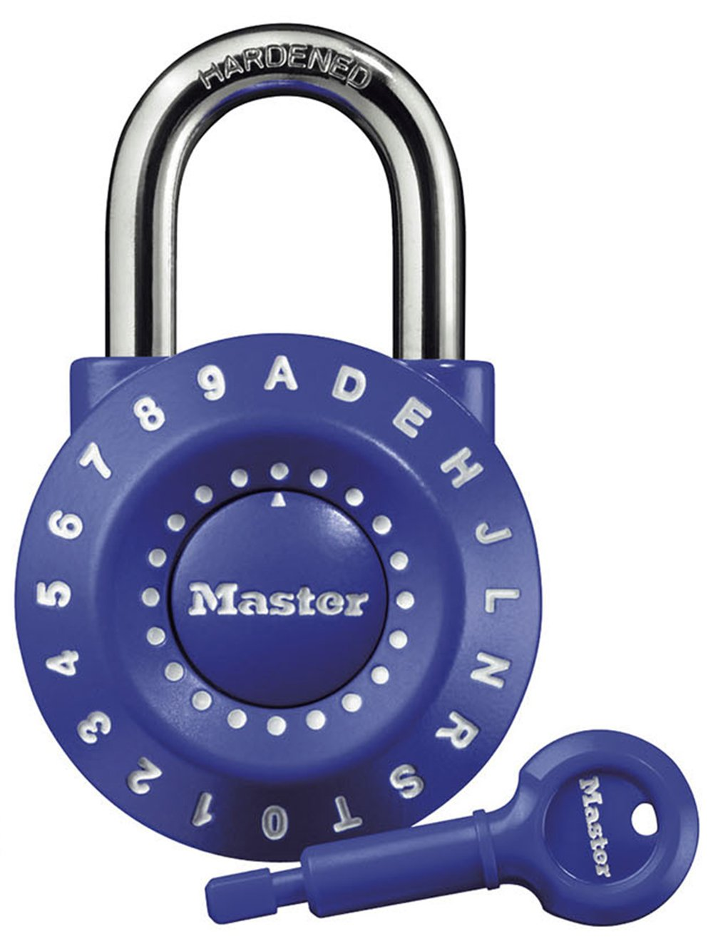Master Lock Padlock, Set Your Own Combination Lock, 1-15/16 in. Wide, Assorted Colors, 1590D
