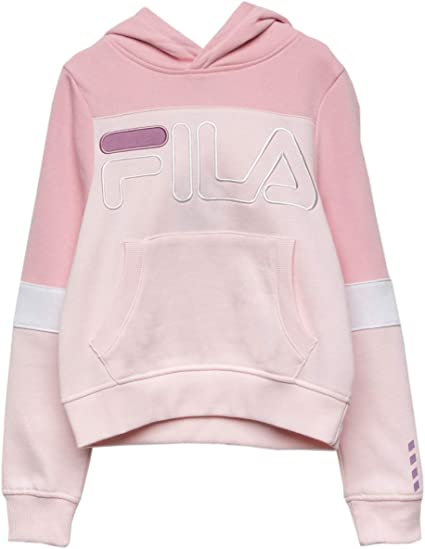 : Fila Samantha Navy Girls Hoodie: Clothing