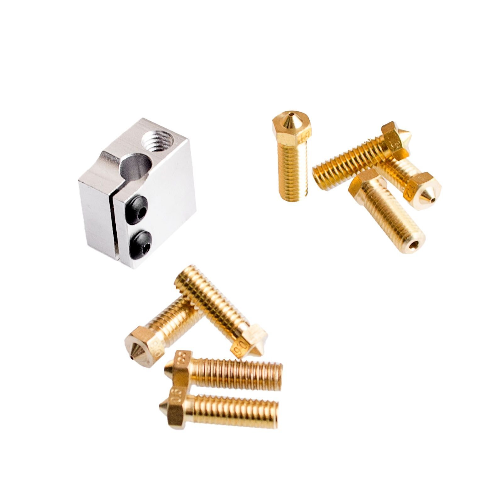 Wangdd22 High Speed V6 Print Pack for RepRap 3D Printer 1.75/3mm Filament Metal Hotend Volcano Extra Nozzles + Heater Block+NTC 3950 Thermistor by Wangdd22 (Image #3)
