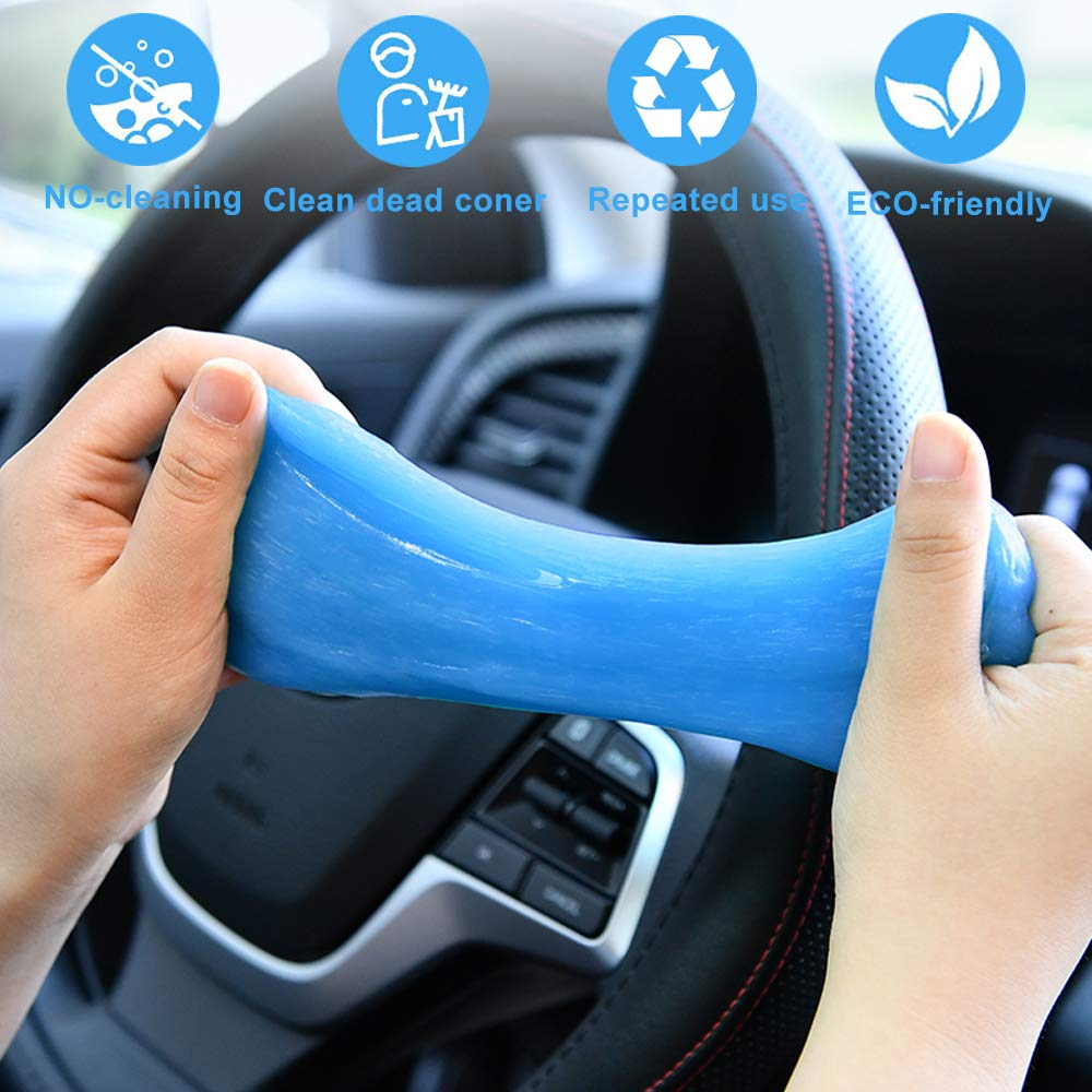 Keyboard 2 Pack Universal Cleaning Slime Dust Cleaner for Auto Interior Calculator Printers and More Car Vent CONNYAM Car Cleaning Gel