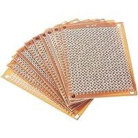 Kitechildheed 10pcs Bricolage Prototype Carte de Circuit imprim/é Universel de Carte de Circuit imprim/é 5x7cm de cuivre