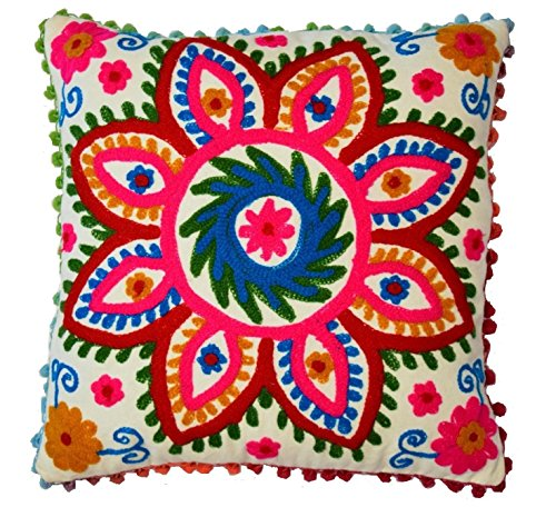 Diyana Impex 5 Pc Wholesale Lot Suzani Cushion Cover Indian Pillow
