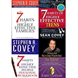 img - for 7 Habits of highly effective families, teens, people personal workbook and wisdom from rich dad poor dad [hardcover] 4 books collection set book / textbook / text book