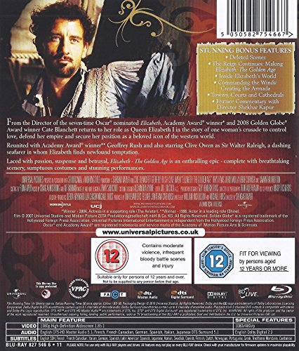 Elizabeth - Elizabeth The Golden Age - 2 Movie Bundling Blu-ray