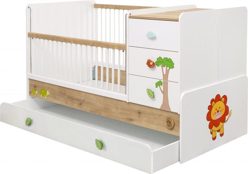 Cilek SAFARI Babybett Kinderbett Kinderzimmer Weiß