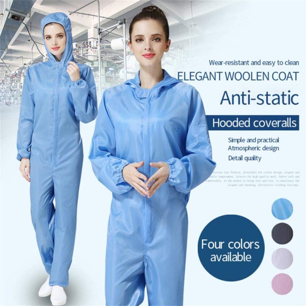 Traje de protecci/ón reutilizable Traje de mujer Ropa de trabajo aislada A prueba de polvo y antiest/ático Overall-L