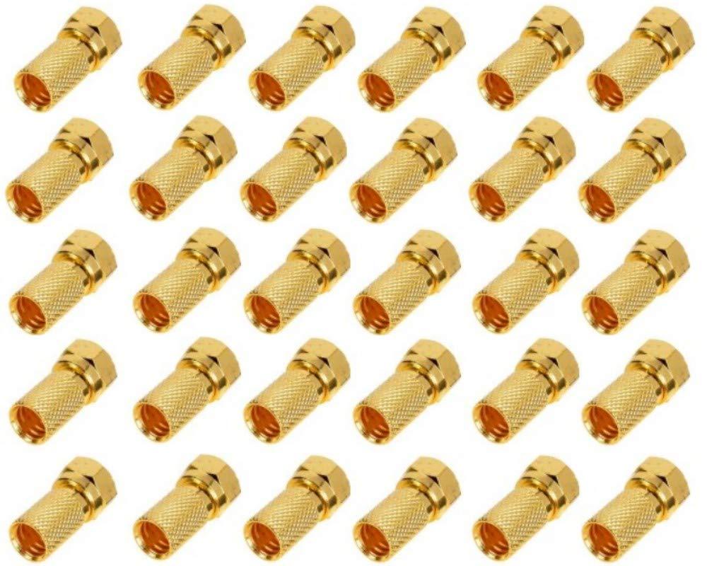 TRENDSKY - Conectores F para Cable coaxial de Antena (100 Unidades ...