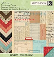 K&Company Designer Paper Pad, Kelly Panacci Eclectic, 12 by 12-