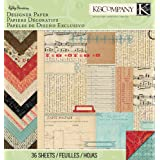 K&Company Designer Paper Pad, Kelly Panacci Eclectic, 12 by 12-Inch