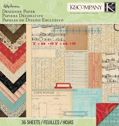 K&Company Designer Paper Pad, Kelly Panacci Eclectic, 12 by (Designer 12x12 Paper Pad)