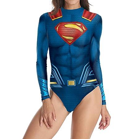 QQWE Superman Cosplay Traje de baño de la Liga de la ...