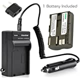 NEW Battery + Charger for CANON EOS 5D 10D 20D 30D D30 D60 ZR60 ZR70 ZR80 BP-511 + car plug