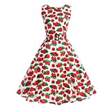Search : GOGOBO Women Vintage Dresses 1950's Floral Spring Garden Rockabilly Swing Prom Party Cocktail Dress Elegant