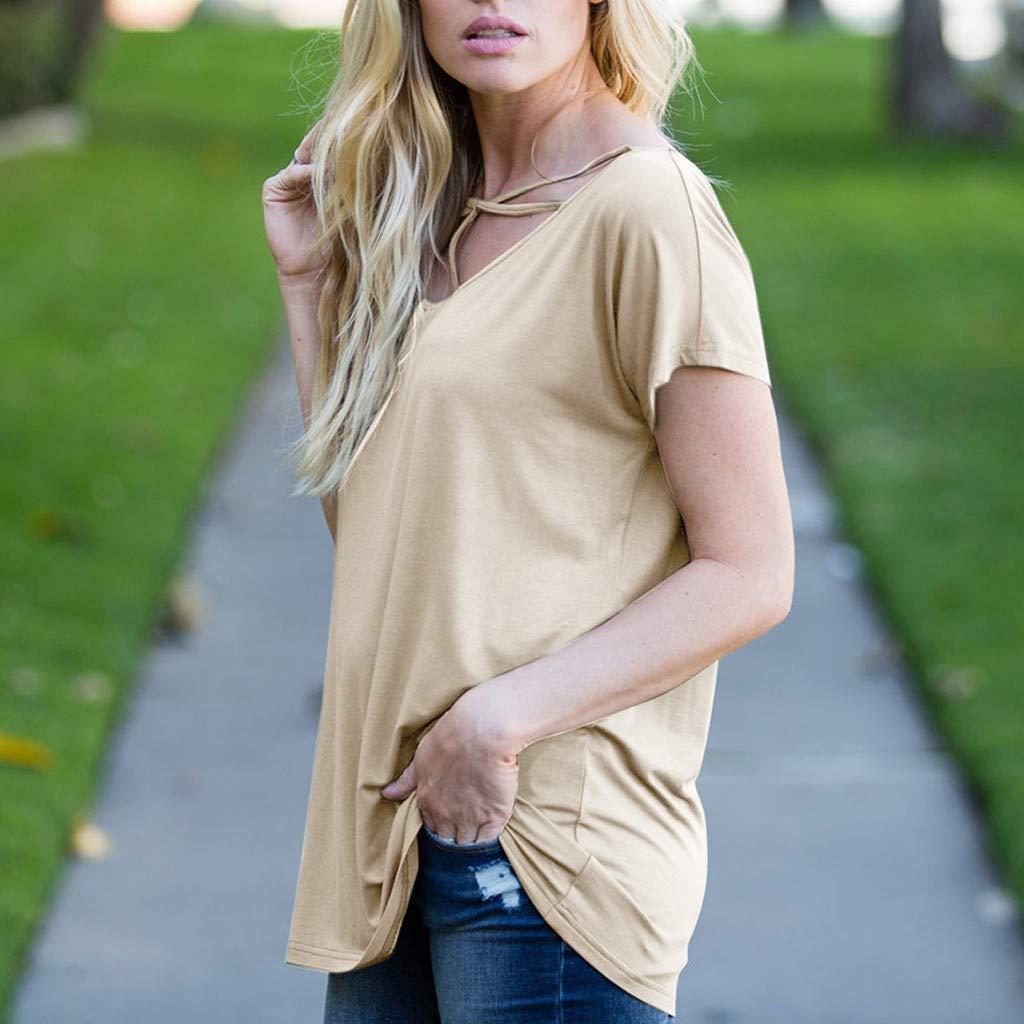 Qingsiy Camiseta Mujeres Verano Blusa Chaleco Hombro Inclinado ...
