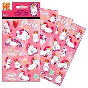 Fluffy Unicorns Stickers - 4 Sheets of Stickers