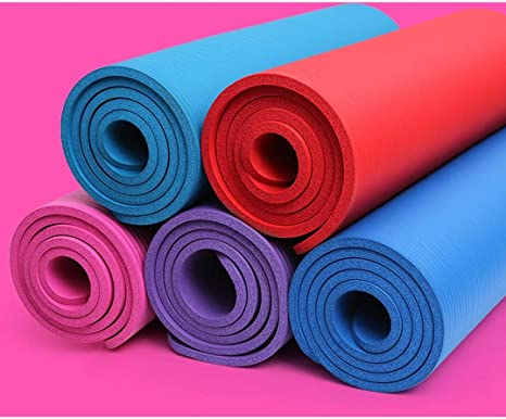 Gelins Yoga Mat Exercise Nbr Fitness Foam Mat Extra Thick Non Slip Large Padded High Density For Pilates Gymnastics Stretching Fitness Workout With Free Carry Strap Amazon Co Uk Sports Outdoors