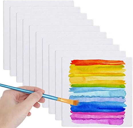 LANIAKEA 24 Pack Canvas Panels 6x6 Artist Canvas Boards for Painting