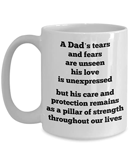 Amazon com: Dad Mugs Coffee Quote - Gifts from Daughter Son