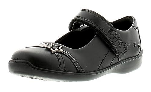 Buckle My Shoe Diamantes de Niña Niño de Piel Zapatos de Colegio Black - Black - UK Tamaños 1-13 - Negro, 32.5 EU: Amazon.es: Zapatos y complementos
