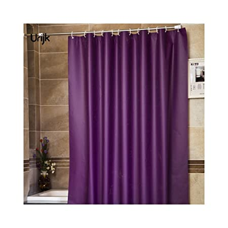 XIAOXINYUAN Modern Style Purple Bathroom Waterproof Shower Curtains Fabric Solid Color Curtain Mildewproof With Hook