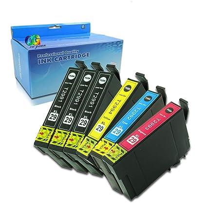 Ouguan - Pack de 6 impresoras Epson 29XL 29 para Epson Expression ...
