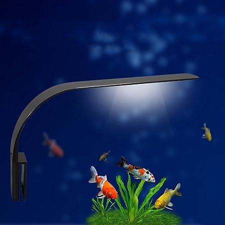 UEETEK Super delgado LED Plantas de luz de acuario crecen la iluminación creativa Clip-on lámpara con enchufe de la UE (luz azul): Amazon.es: Productos para ...